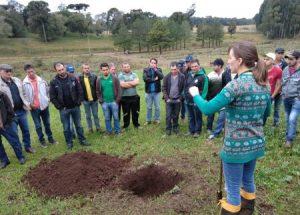Oficina capacita agricultores de Ponte Serrada em conservação do solo