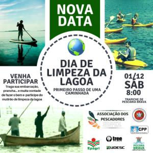 Sábado é dia de limpeza da lagoa em Pescaria Brava