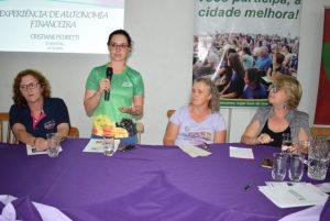Seminário em Descanso debate autonomia financeira das mulheres no enfrentamento à violência