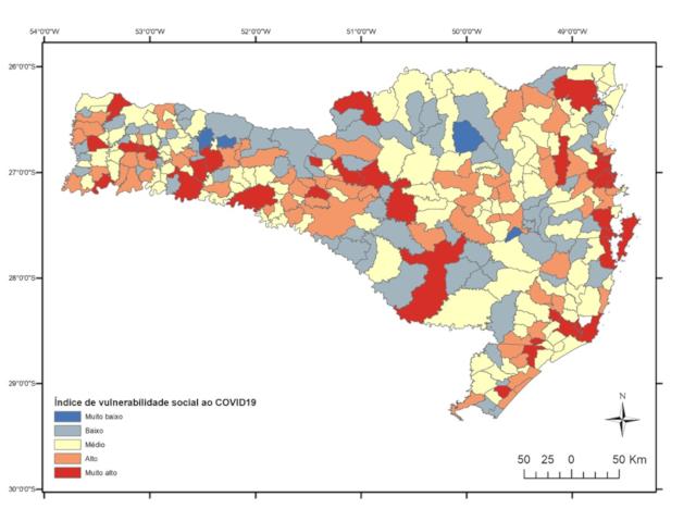 Coronavírus em SC: Mapas digitais desenvolvidos com apoio da Epagri apresentam vulnerabilidade da população
