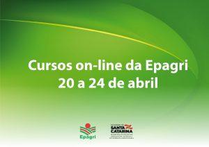 Produção de grãos, hortaliças, leite e muito mais nos cursos  on-line oferecidos pela Epagri de 20 a 24 de abril