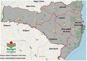 Rede de monitoramento da Epagri registra vento recorde e auxilia na análise de tempestades em SC