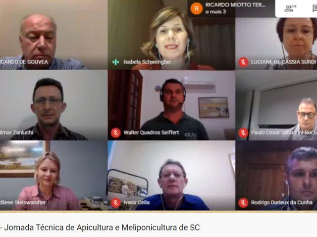 Jornada virtual da apicultura e meliponicultura alcançou mais de 17 mil pessoas