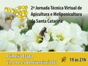 Read more about the article 2ª Jornada Técnica Virtual de Apicultura e Meliponicultura de SC terá primeira etapa de 23 a 25 de fevereiro